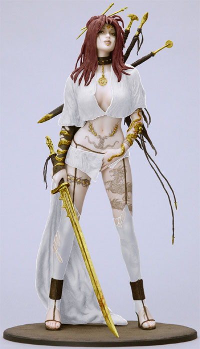 Fantasy Figure Gallery: Medusa's Gaze (White Version)