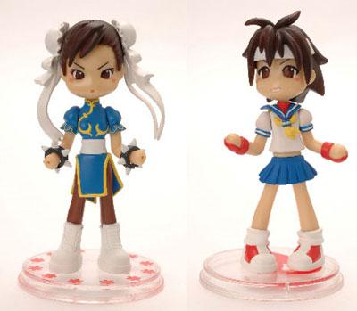 Street Fighter Pinky Street Chun-Li and Sakura 2 Figure Set