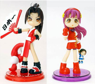 King of Fighters Pinky Street Mai and Athena 2 Figure Set