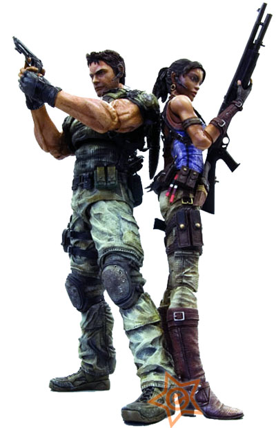 Resident Evil 5 Play Arts Kai Action Figures