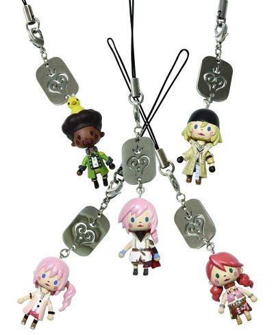 Kingdom Hearts Avatar Mascot Straps from Final Fantasy XIII