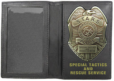 Resident Evil STARS Badge and Leather Wallet Set