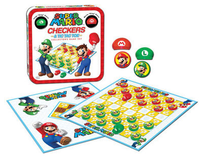 Super Mario Bros Collectors Edition Checkers & Tic Tac Toe Set