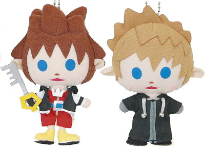 Kingdom Hearts Avatar Plush Keychains