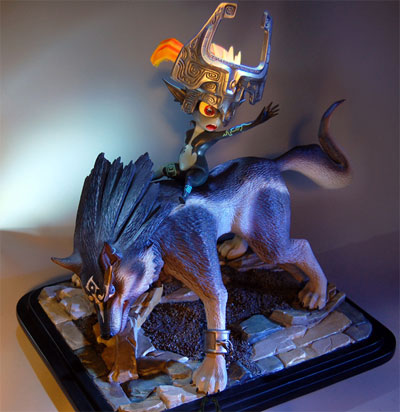 Legend of Zelda: Twilight Princess Wolf Link & Midna Statue