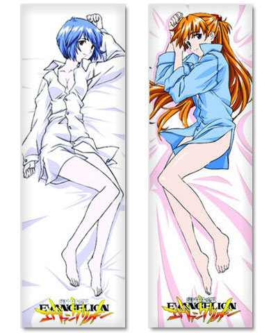 Neon Genesis Evangelion Asuka Langley and Rei Ayanami Body Pillows