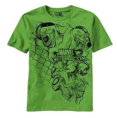 Marvel vs Capcom Muscle Mass Shamrock T-Shirt