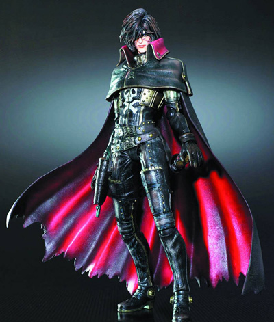 Space Pirate Captain Harlock Play Arts Kai Harlock Action Figure