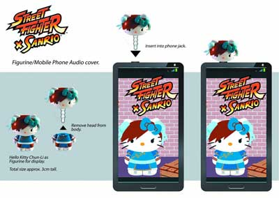 Sanrio x Street Fighter Mobile Plugs