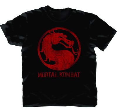 Mortal Kombat Classic Distressed Logo T-Shirt