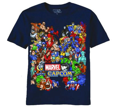 Marvel vs Capcom Size Them Up T-Shirt