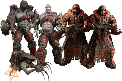 Gears of War 2 Series 4 Grenadier Elite Action Figure