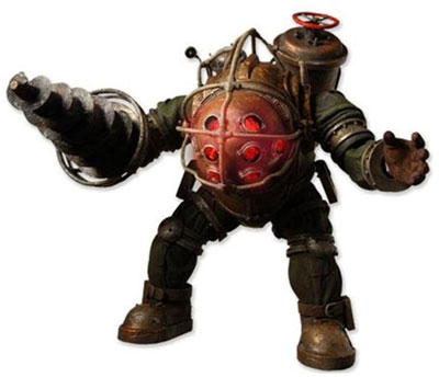 Bioshock Big Daddy Action Figure with LED Lights