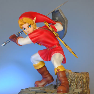Legend of Zelda: Ocarina of Time Link Statue (Goron Tunic)