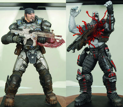 Gears of War Chainsaw Marcus Vs Locust 2-Pack Action Figure