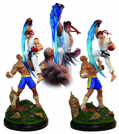 Street Fighter II Ryu vs Sagat 19 inch Statue