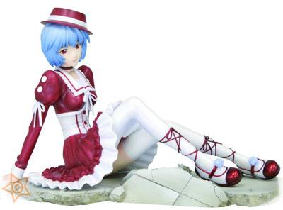 Neon Genesis Evangelion Rei Ayanami Goth-Loli Rouge Dress PVC Statue