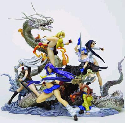 Ikki Tousen / Battle Vixen Trading Figure Box Set