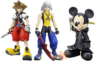 Kingdom Hearts: Play Arts 3 Figures Set
