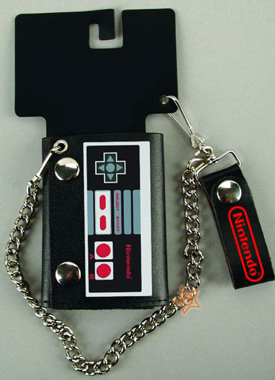 NES Controller Leather Chain Wallet