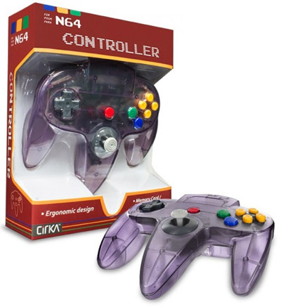 Nintendo 64 Controller Clear Grape