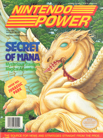 Nintendo Power Magazine Volume 54 Secret Of Mana