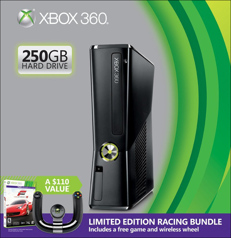 Microsoft Xbox 360 Slim 250GB Racing Bundle