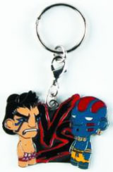 Street Fighter E. Honda vs Blue Dhalsim Enamel Keychain