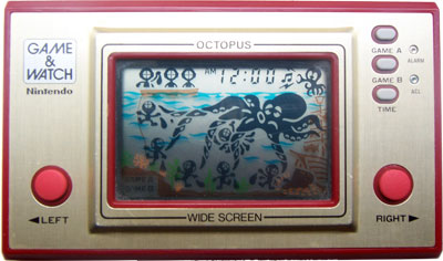 Game & Watch Wide Screen Series: Octopus