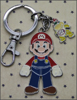 Nintendo Mario with Bowser Keychain