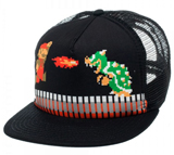 Super Mario 8-Bit Black Trucker Cap