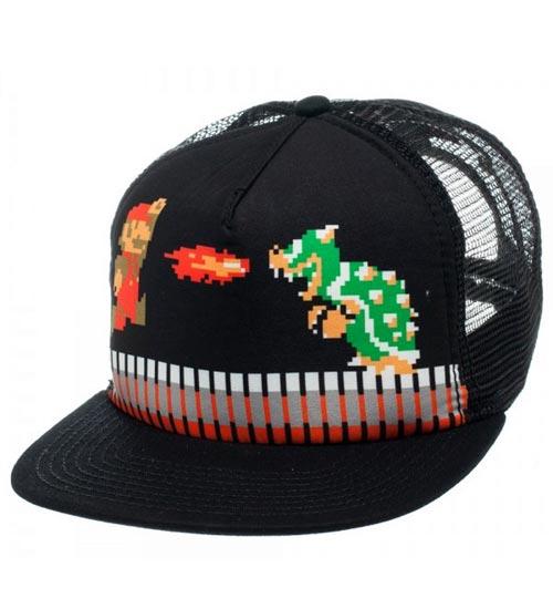 Super Mario 8-Bit Black Trucker Cap