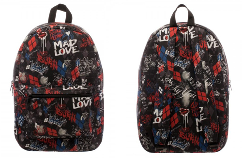 Suicide Squad Harley Quinn Scribble Backpack
