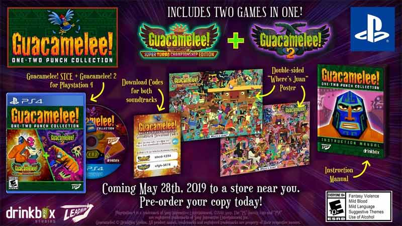PS4 Guacamelee One Two Punch Collection Launch Edition items
