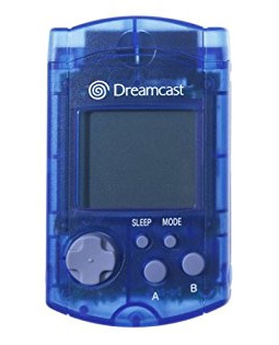 Dreamcast VMU Memory Card Clear Blue by Sega