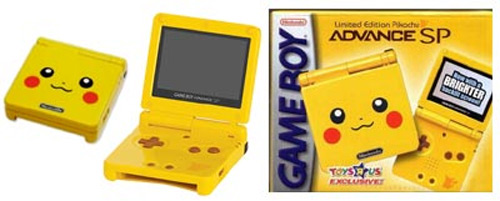 Nintendo Game Boy Advance SP Pikachu Edition with Backlit Screen