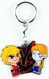 Street Fighter Ken vs Vega Enamel Keychain