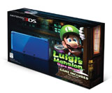Nintendo 3DS Cobalt Blue System Luigi's Mansion: Dark Moon Bundle