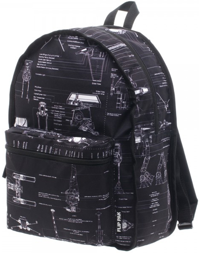 Star Wars Boba Fett Reversible Backpack with Blue Print