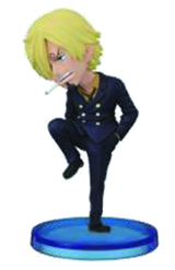 One Piece WCF Fight Sanji 2 1/2 Inch Figure