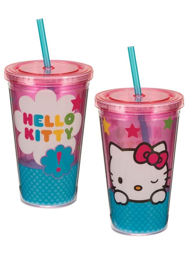 Hello Kitty Stars 18 oz Acrylic Travel Cup