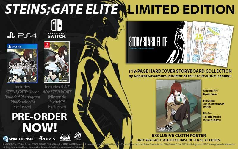 NSW Steins Gate Elite Limited Edition bonus material