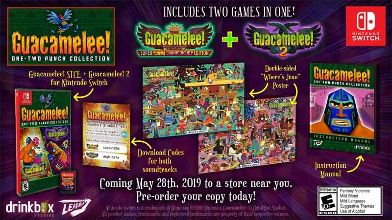 NSW Guacamelee One Two Punch Collection Launch Edition items
