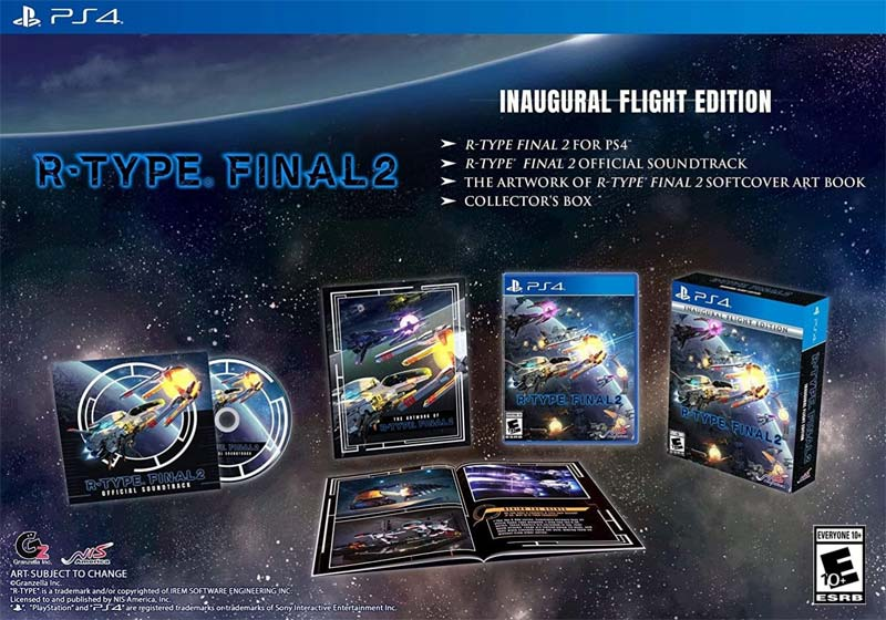 PS4 R Type Final 2 Inaugural Flight Edition all items