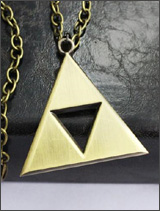 Legend of Zelda Gold Chained Triforce Necklace