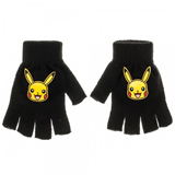 Pokemon Pikachu Knit Fingerless Gloves