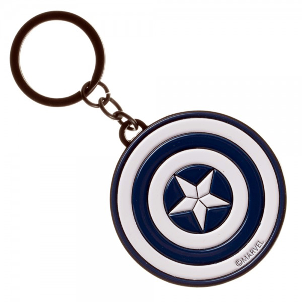 Captain America Civil War Logo Enamel Filled Keychain