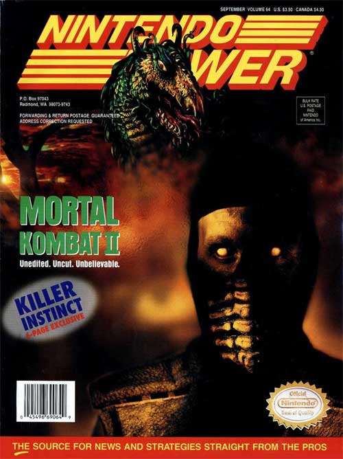 Nintendo Power Volume 64 Mortal Kombat II
