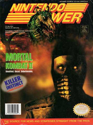 Nintendo Power Magazine Volume 64 Mortal Kombat II
