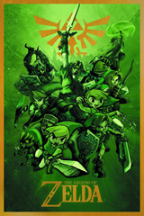 Legend of Zelda Links 24X36 Poster